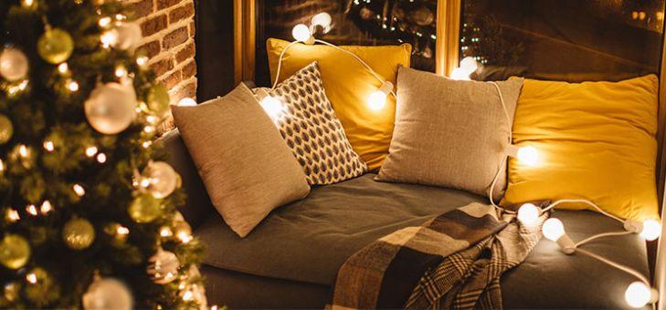 Salon Décoré Pour Noël